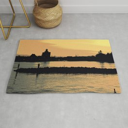 Sunset landscape Rug
