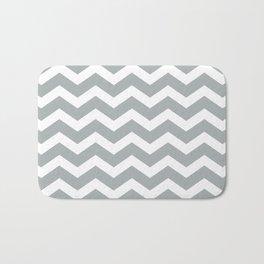 Chevron Grey & White Bath Mat