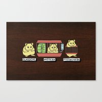 hamster Canvas Prints featuring hamster by tavislea