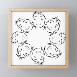rostidade faces Framed Mini Art Print