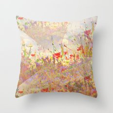 Floral Fantasy Throw Pillow