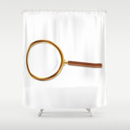 Brass Magnifying Glass Shower Curtain