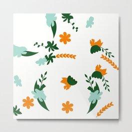 Flower Trail Metal Print