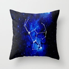 Orion Constellation Star Map Throw Pillow