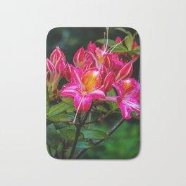 Pink flowers/ Bath Mat