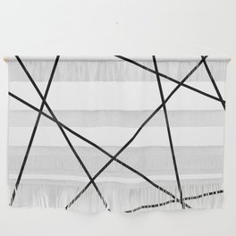 Lines in Chaos II - White Wall Hanging