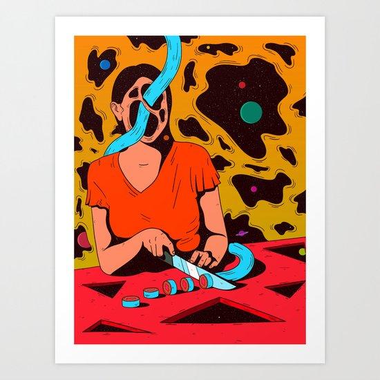 Cosmos chopper Art Print