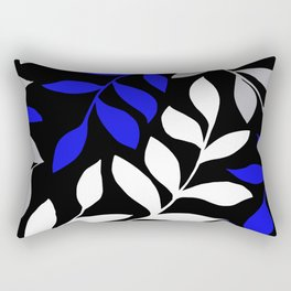 BLUE Palm leaf Black Palm leaf  Gray leaf Pattern Rectangular Pillow