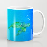 sea turtle Mugs featuring Sea Turtle  by MacDonald Creative Studios