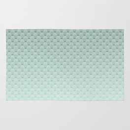 Geometric #turquoise #pattern #monochrome Rug