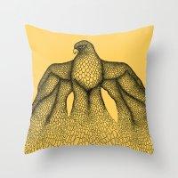 millenium falcon Throw Pillows featuring Falcon by Julia Kisselmann