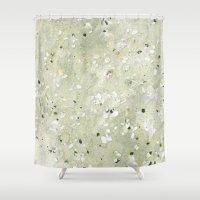 scotland Shower Curtains featuring Sandy Scotland by BRITADESIGNS