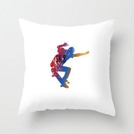 Skateboarding SK8 Skater Throw Pillow