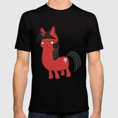 My small sized satanic duplicorn horse MEDIUM Mens Fitted Tee Black