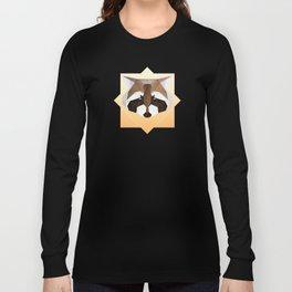 Raccoon Geometric Long Sleeve T-shirt