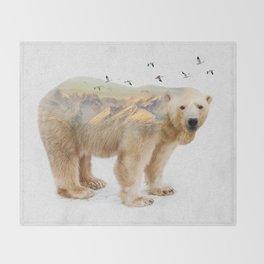 Wild I Shall Stay | Polar Bear Throw Blanket