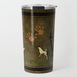 Cavemen Wall Travel Mug