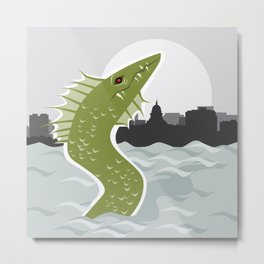 Bozho the Lake Mendota Monster Metal Print