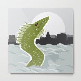 Bozho the Lake Mendota Monster Metal Print