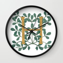 Forest Letter H Lite 2020 Wall Clock