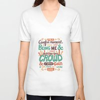 it crowd V-neck T-shirts featuring Crowd by Risa Rodil