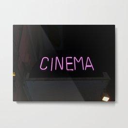 Neon Sign at Night Metal Print