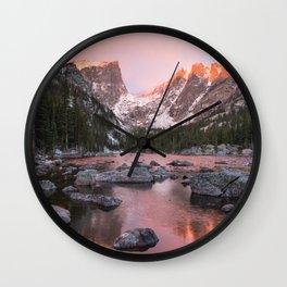 Dream Lake Sunrise Wall Clock