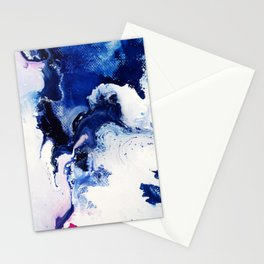 Riveting Abstract Watercolor Painting Stationery Cards