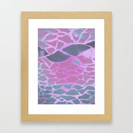 illustration made in pastel colors making small abstract geometric figures Framed Art Print