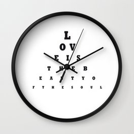 Love is the beauty Wall Clock