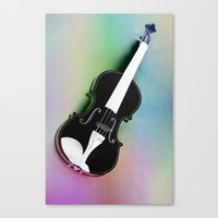 violin Canvas Prints featuring Violin by Christine baessler