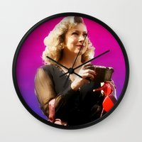 river song Wall Clocks featuring Doctor Song by Taylor Bookout