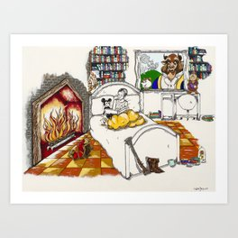 Books Coming to Life: Beauty and the Beast Art Print