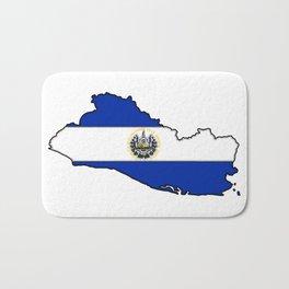 El Salvador Map with Salvadoran Flag Bath Mat