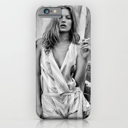 Kate Moss Retro Vintage Celebrity Silk Poster Frameless-Art iPhone Case