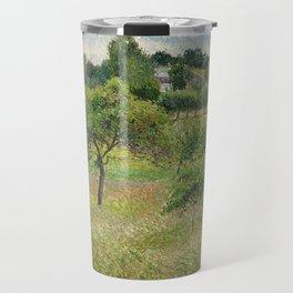 "Camille Pissarro ""Apple trees in Éragny"" (""Pommiers à Éragny"") Travel Mug"