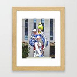 Seated Ballerina at Rockefeller Center 2 Framed Art Print