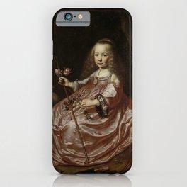 Dirck Dircksz van Santvoort - Clara Alewijn (1635-74( Daughter of Abraham Alewijn and Geertruid Hoof iPhone Case