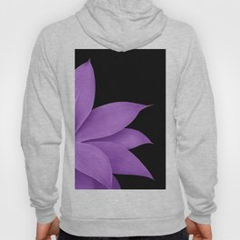 Agave Finesse #10 - Purple on Black #tropical #decor #art #society6 Hoody