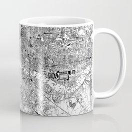Vintage Map of London England (1860) BW Coffee Mug