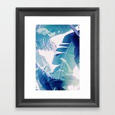 Banana Leaf Blue Framed Art Print