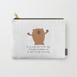 Excited Bear Carry-All Pouch