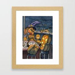 Pumpkin Stripper Framed Art Print