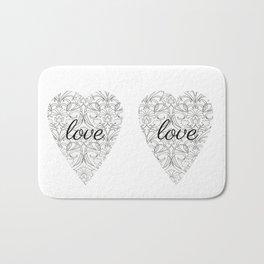 Love Heart Design Bath Mat