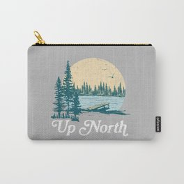 Vintage Retro Up North Lake Carry-All Pouch
