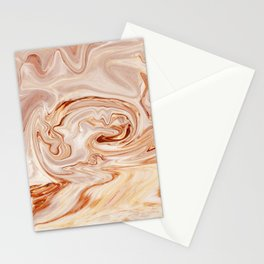 Nude Liquid Marble Stationery Cards