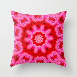 The Pink Swirl  Throw Pillow