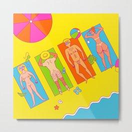 Nude Beach Metal Print