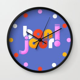 bonjour! french design Wall Clock