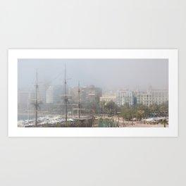 Misty Alicante Art Print